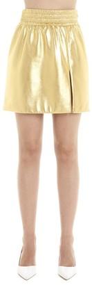 Miu Miu Metallic Effect Side Slit Mini Skirt