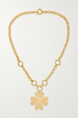 Foundrae Four Heart Clover 18-karat Gold Necklace