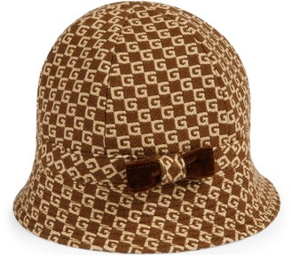 Gucci Children's Square G velvet hat