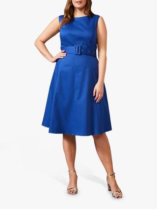 Studio 8 Blair Belted Knee Length Dress, Cobalt