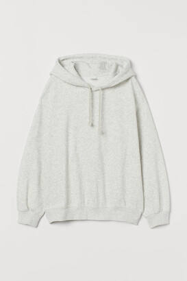 H&M Cotton-blend Hoodie - Gray