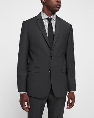 Express Slim Charcoal Wool Blend Wrinkle-Resistant Performance Suit Jacket