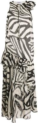 Parlor Love animal-print ruffled dress