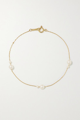 Mizuki 14-karat Gold Pearl Bracelet - one size