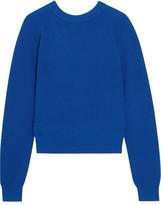 Proenza Schouler Ribbed Cashmere-blend Sweater - Blue