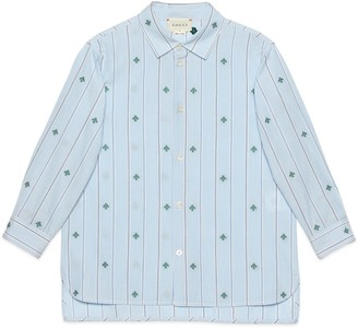 Gucci Children's bee fil coupe cotton shirt
