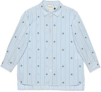 Gucci Children's bee fil coupe cotton shirt