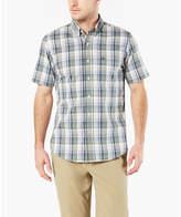 Dockers Short Sleeve Polka Dot Button-Front Shirt-Big and Tall
