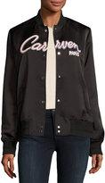 Carven Veste Teddy Bomber Jacket, Black