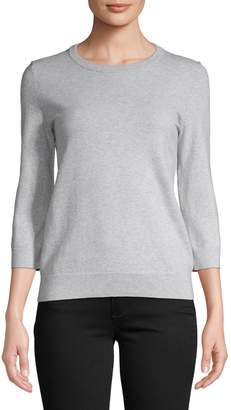 Lord & Taylor Crew-Neck Three-Quarter Sleeve Sweater