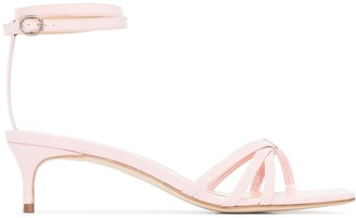 BY FAR Kaia 50mm strappy sandals