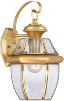 Quoizel Newbury Medium Wall Lantern in Polished Brass