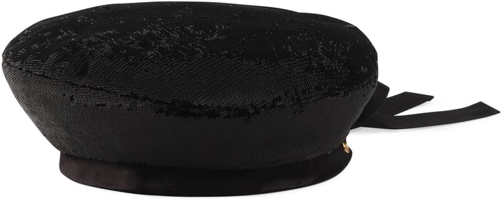Gucci Sequin beret with bow
