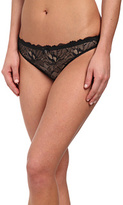 Emporio Armani Fabulous Flora Lace with Gros Grain Details Thong Women's Underwear
