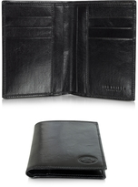 The Bridge Story Uomo Dark Brown Leather Men's Vertical Wallet