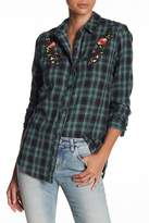 Abound Embroidered Plaid Flannel Shirt