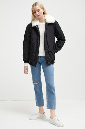 French Connection Githa Mix Aviator Jacket
