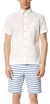 Ben Sherman Men's Short Sleeve Linen Button-Down Shirt