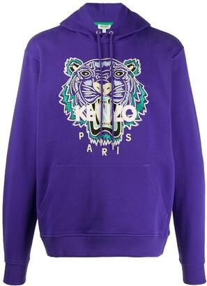 Kenzo Tiger Embroidered Hooded Sweatshirt