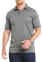 Hart Schaffner Marx Oval Print Interlock Short-Sleeve Polo