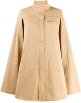 Courreges cut-out sleeve flared coat