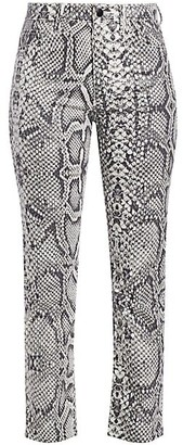 Joe's Jeans The High-Rise Scaled Python-Print Cigarette Jeans