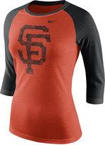 Nike Women's San Francisco Giants Tri Logo Raglan T-Shirt