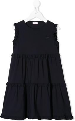 Il Gufo Sleeveless Ruffle-Trim Dress