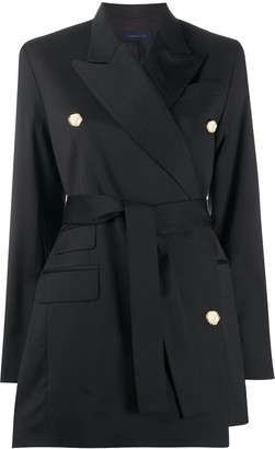 Eudon Choi Belted Double Breasted Coat