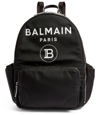 Balmain Kids Logo Print Backpack