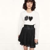 Maje Short lace skirt with smocking
