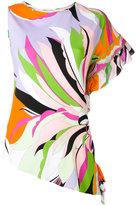 Emilio Pucci printed asymmetric blouse