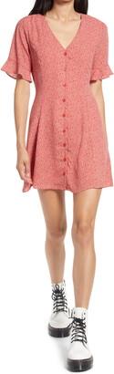 Lulus Castana Button A-Line Dress