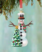 Christopher Radko Snowy Sparkler Christmas Ornament