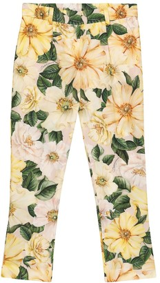 Dolce & Gabbana Kids Floral cotton pants
