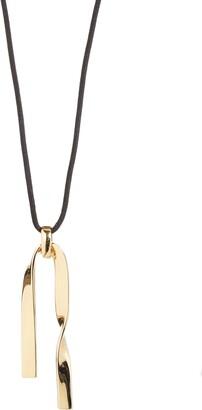 St. John Twist Metal Pendant Necklace