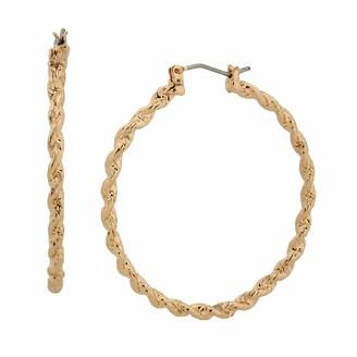 Betsey Johnson Textured Hoop Earrings