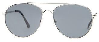 Forever 21 Men Flat-Lens Aviator Sunglasses