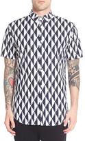 Zanerobe Ikat Short Sleeve Trim Fit Shirt