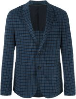 Z Zegna checked single breasted blazer