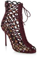 Sergio Rossi Mermaid Lace Up Jewel Booties