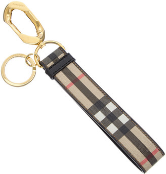 Burberry Vintage Check & Leather Charm
