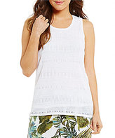 Tommy Bahama Lea Scoop Neck Solid Tank