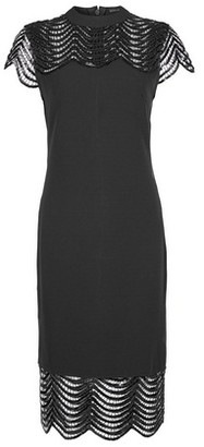 Dorothy Perkins Womens Showcase Black Sequin Blair Bodycon Dress, Black