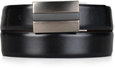 Kenneth Cole Reaction Black & Burgundy Feathered-Edge Reversible Leather Belt