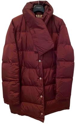 Burberry Burgundy Polyester Coats