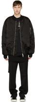 Unravel Black Oversized Ribcage Bomber Jacket