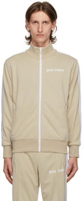 Palm Angels Beige Classic Track Jacket
