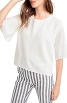 J.Crew Women's Dramatic Sleeve Summerweight Cotton Sweater