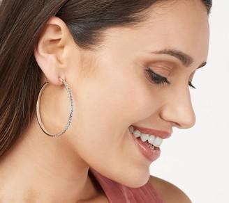 "Lois Hill Sterling Silver 2"" Hoop Earrings"